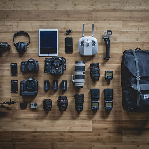 cameras, lenses and miscellaneous photography equipment