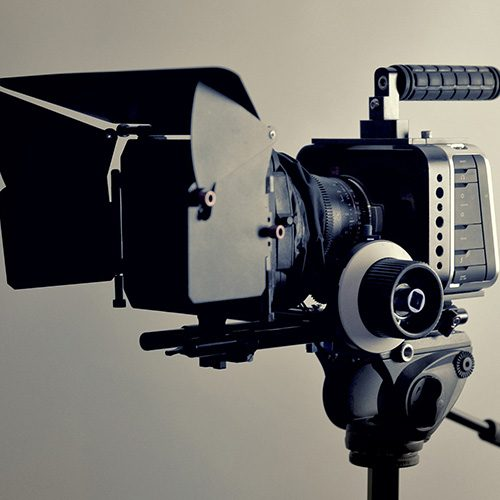 close up of camera equipment