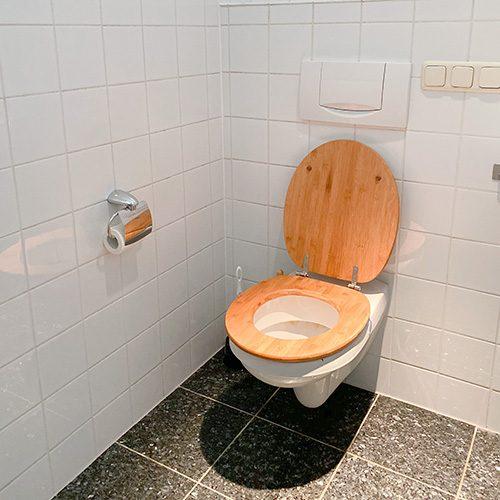 toilet in clean bathroom